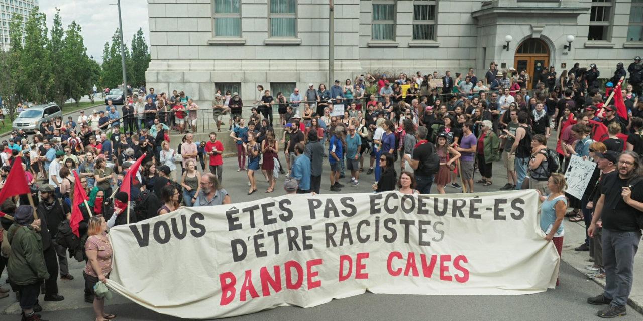 Mise en contexte et compte-rendu des actions contre La Meute à Québec le 20 août