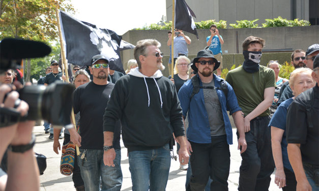 "Neo-Nazi member of La Meute, supposedly ""suspended"", present at Quebec City demonstration"