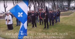 Messe officiée par un prêtre de la Fraternité sacerdotale Saint-Pie X, le 1er mai 2016, à Québec, à l'intention des militant-e-s d'Atalante et de la Fédération des Québécois de souche.