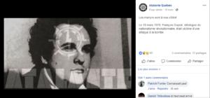 Hommage à François Duprat, fasciste et théoricien du nationalisme révolutionnaire.