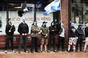 Atalante devant le siège de Radio-Canada à Québec, le 1er juillet 2017.
