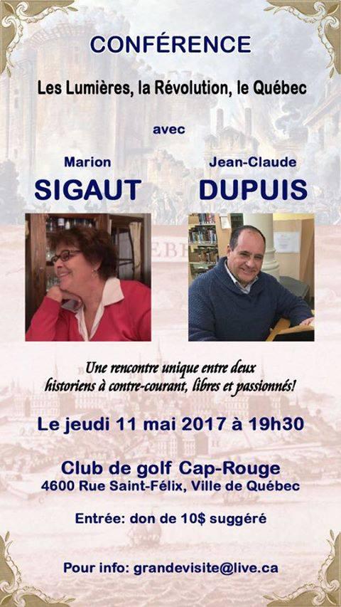Affiche annoncant une conférence de Jean-Claude Dupuis, proche de la Fraternité sacerdotale Saint-Pie X, dont Atalante aurait assuré la sécurité.
