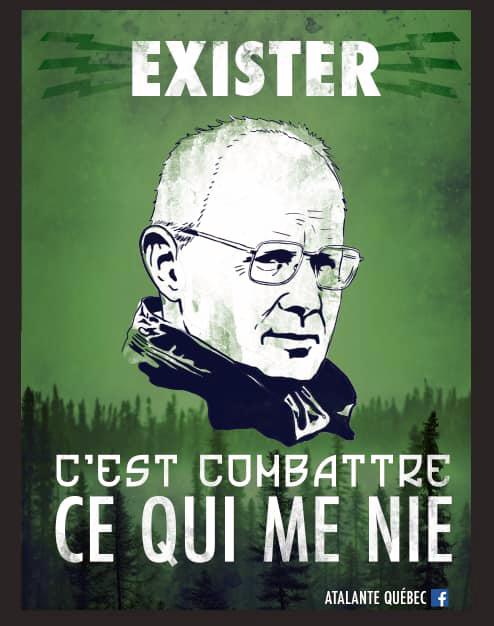 Affiche d'Atalante rendant hommage à Dominique Venner.