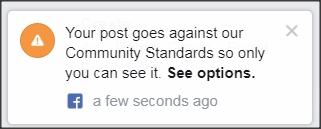 Situation of Montréal Antifasciste and Facebook