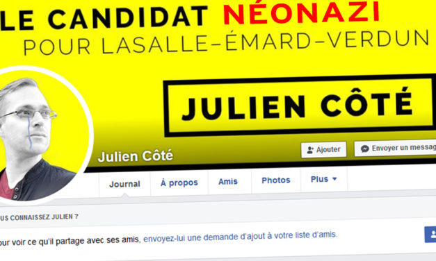 Julien Côté Lussier: l'excès d'orgueil du néonazi qui a voulu jouer la game électorale