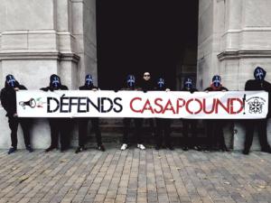 Banderole d'Atalante en soutien à CasaPound, le 30 octobre 2018.